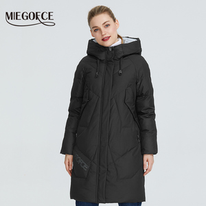 Image 2 - MIEGOFCE 2019 Women Winter Parka Femme Windpro Coat With Stand Up Collar and Hood That Will Protect From The Cold Womens Jacket