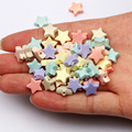 50/100 шт 10 мм Разноцветные Цвет Звезда бусины акриловые бусины для изготовления ювелирных изделий Diy ожерелье браслет ручной работы аксессуа...