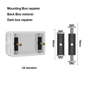 Wall Switch BOX Repairer Wall Socket Cassette Adjustable Mounting Box Restorer Internal Cassette repairer For 86/118 Type Switch
