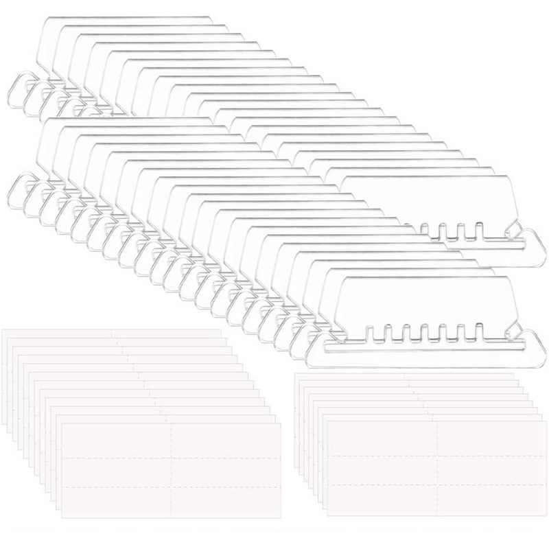 HOT-180 Sets 2 Inch Hanging Folder Tabs and Inserts for Quick Identification of Hanging Files Hanging File Inserts