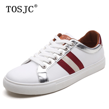 TOSJC Fashion Mens Sneakers Autumn Lace-up Flat Skateboarding Shoes Striped Sport Trainer for Man Casual Walking Footwear