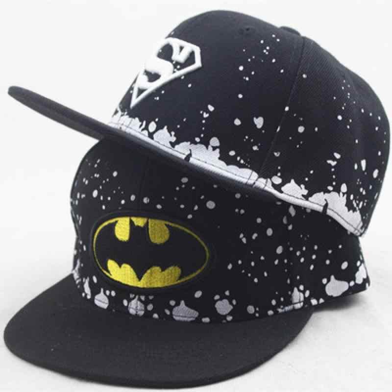 Boné de beisebol das crianças do superman do batman crianças hip hop dos desenhos animados impressão chapéus meninos e meninas bonito chapéu de sol crianças snapback bonés gorras