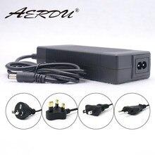 Aerdu 48v 2a 13s 54.6v bateria de lítio-íon carregador 5.5*2.1mm universal ac dc fonte de alimentação adaptador ue/eua/au/uk plug