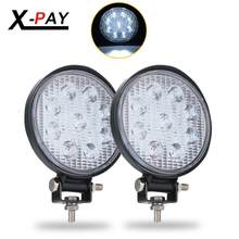 2 Pcs 4 Inch 27W Putaran LED Light Polong Lampu Kerja Banjir Beam Off Road Mengemudi Lampu Lampu Kabut tahan Air Truk Traktor Mobil Perahu M(China)