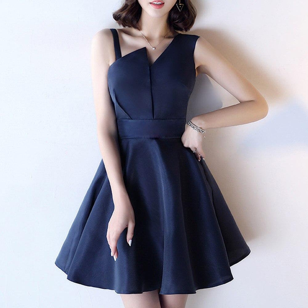 Dressv preto alta pescoço elegante mangas compridas