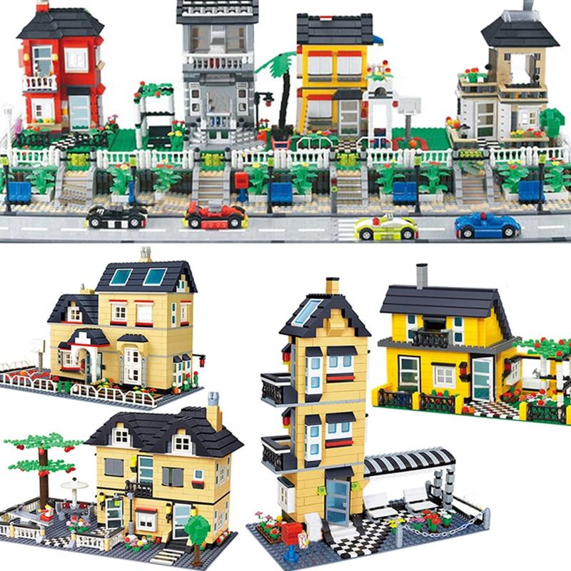Wange Compatible Legoed City Architecture Model Capital Building Kits Block Kids Toys Children Bricks France Villa Village Sets