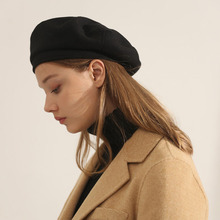 Peaked Cap Vintage Winter Women's Autumn And Solid Wool Casual MAXSITI