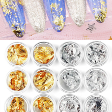 12 Boxes/set Nail Foil Paper Silver Gold Nail Foil Transfer Paper Wrap Sticker DIY Nail Tips Art Decoration Aluminum Foils Paper цена и фото