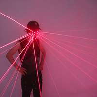Kostenloser Versand Red Laser Maske Halloween Cosplay Liefert LED Maske DJ Nachtclub Disco Party Dekoration Maske
