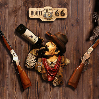 American retro western cowboy creative wall decoration wall hanging pendant bar home decoration accessories for living room