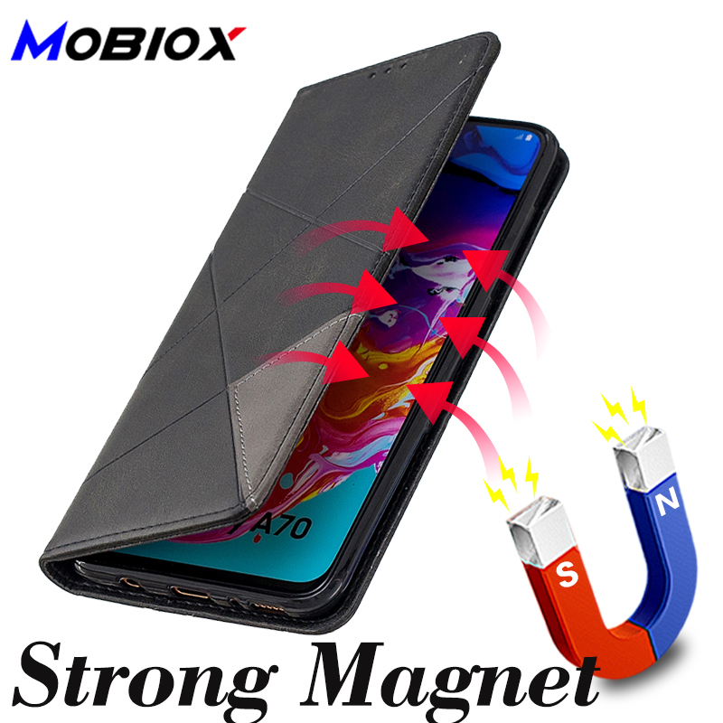 Strong Magnetic Wallet A40 A50 <font><b>A70</b></font> Leather <font><b>Case</b></font> On For <font><b>Samsung</b></font> <font><b>Galaxy</b></font> A50 <font><b>A70</b></font> A40 <font><b>Case</b></font> <font><b>Flip</b></font> A 40 50 70 Luxury Card Slots Cover image