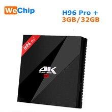 Wechip H96プロプラスアンドロイド7.1スマートtvボックスamlogic S912オクタコア3グラム32グラム2.4/5.8ghzの無線lan 4 18k bluetooth H96プロセットトップボックス