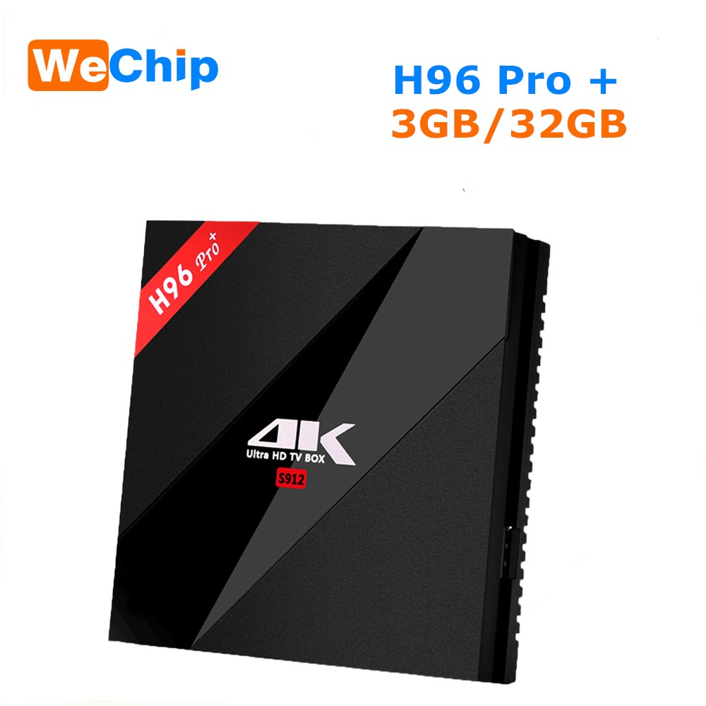Wechip H96 PRO Plus <font><b>Android</b></font> 7,1 Smart <font><b>TV</b></font> Box Amlogic S912 <font><b>Octa</b></font> <font><b>Core</b></font> 3G 32G 2,4 GHz/5,8 GHz Wifi 4K Bluetooth H96 PRO + Set Top Box image