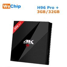 Wechip H96 Pro Plus Android 7.1 Smart Tv Box Amlogic S912 Octa Core 3G 32G 2.4Ghz/5.8Ghz Wifi 4K Bluetooth H96 Pro + Set Top Box