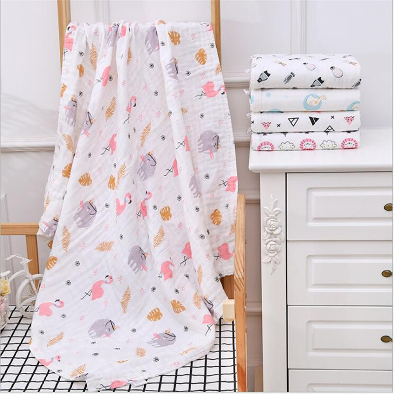 6 Layers Gauze Cotton Bubble Baby Blanket Baby Muslin Swaddle Blanket Baby Bath Towel Cotton Muslin Blanket Infant Wrap Blanket