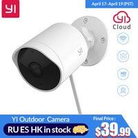 YI Outdoor Sicherheit Kamera SD Card Slot & Cloud IP Cam Drahtlose 1080p Wasserdichte Nachtsicht Sicherheit Überwachung System weiß-in Überwachungskameras aus Sicherheit und Schutz bei