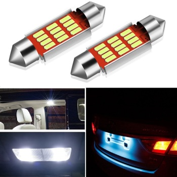 2x C5W LED CANBUS Bulb Festoon 36mm Car Interior Lights License Plate Lamp For BMW E60 E46 F10 X3 X5 E39 E61 E36 M3 M5 4014 SMD image
