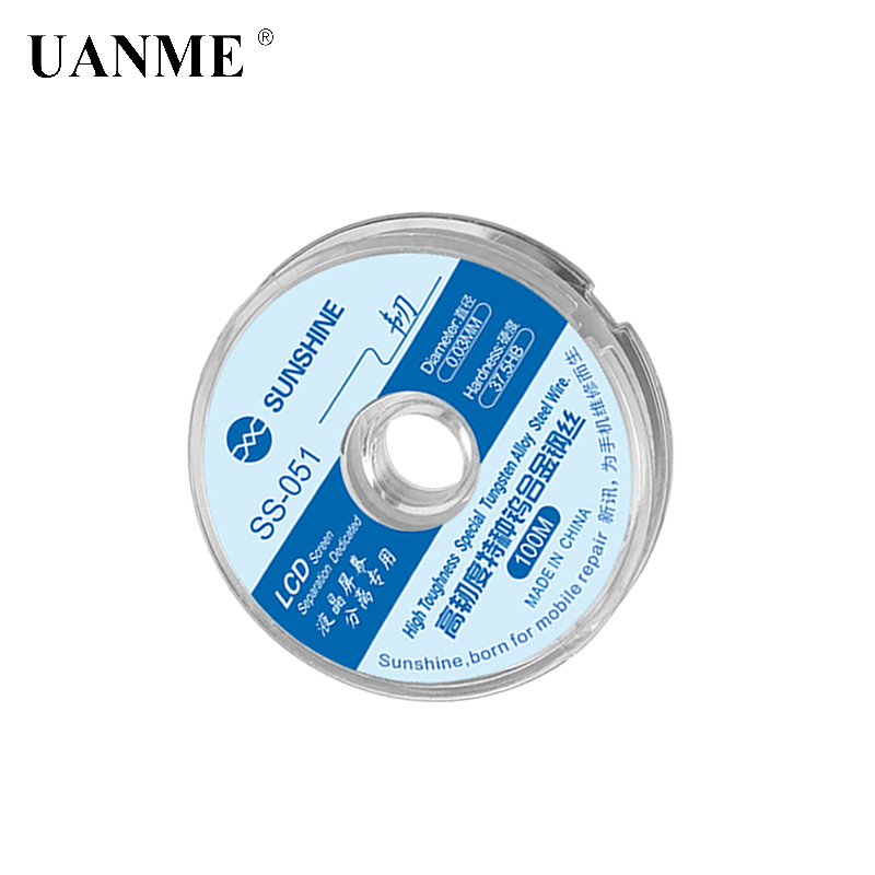 SS-051 LCD Screen Separation Wire Ultrafine 0.03MM Cutting Steel Wire