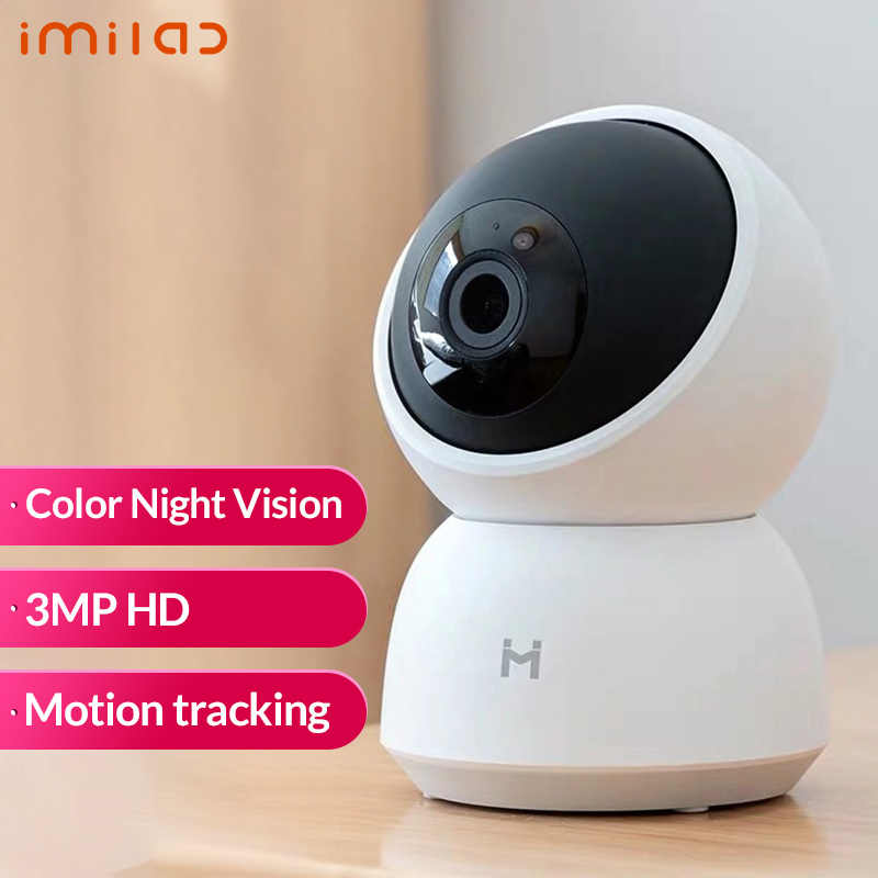 كاميرا IMILAB IP الإصدار العالمي 1296P 2K FHD كاميرا ذكية تعمل بالواي فاي كاميرا 360 ° للرؤية الليلية مراقبة أمن الطفل ل شاومي