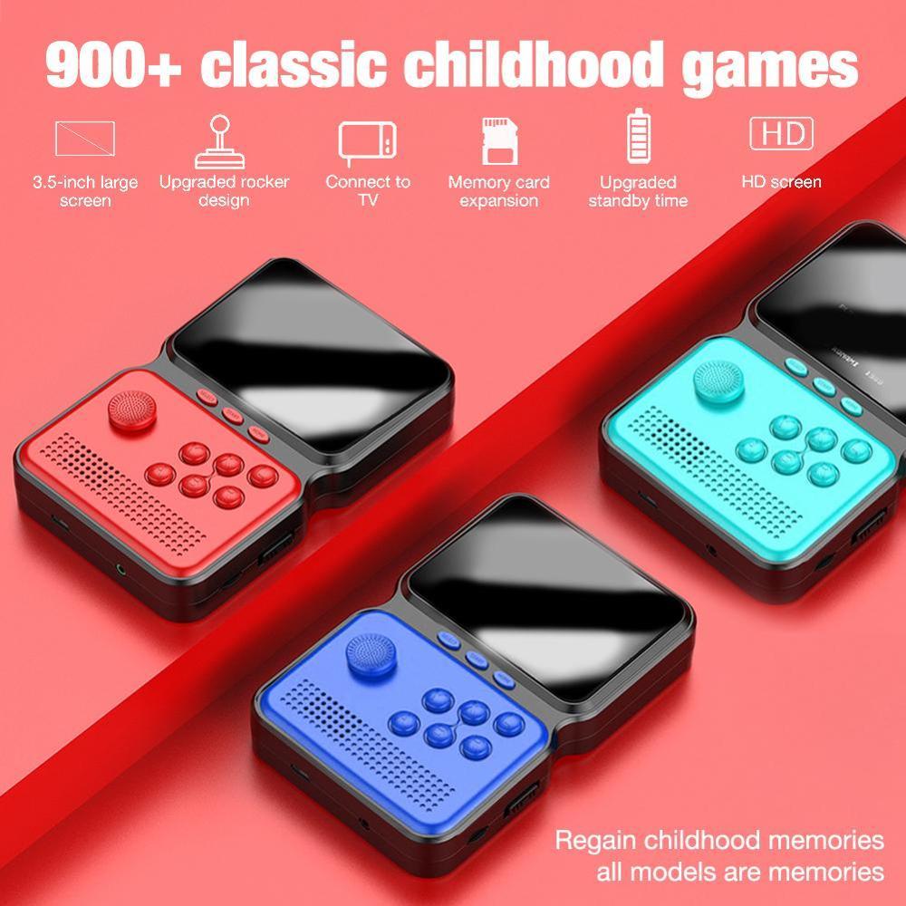 M3 portable 3 pouces Mini contrôleur de jeu portable 16 bits rétro Console de jeu intégré 900 + jeux classiques Machine de jeu rechargeable