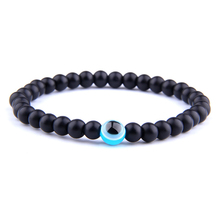 Obsidian Hematite Beads Bracelet Men Nature Stone Evil Eye Bracelet for Women Fashion Jewelry Buddha Health Balance Yoga Bangle