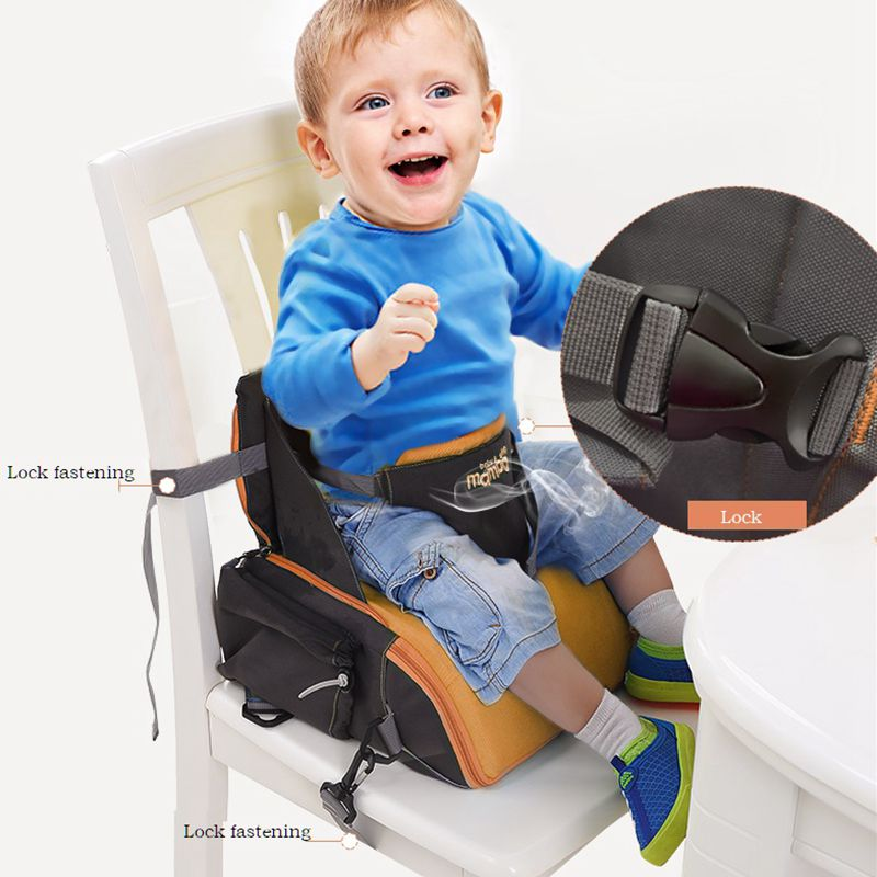 2 IN 1 Tragbarer Baby Booster Sitze Windeltag für Mama Baby Stuhl - Babymöbel - Foto 2