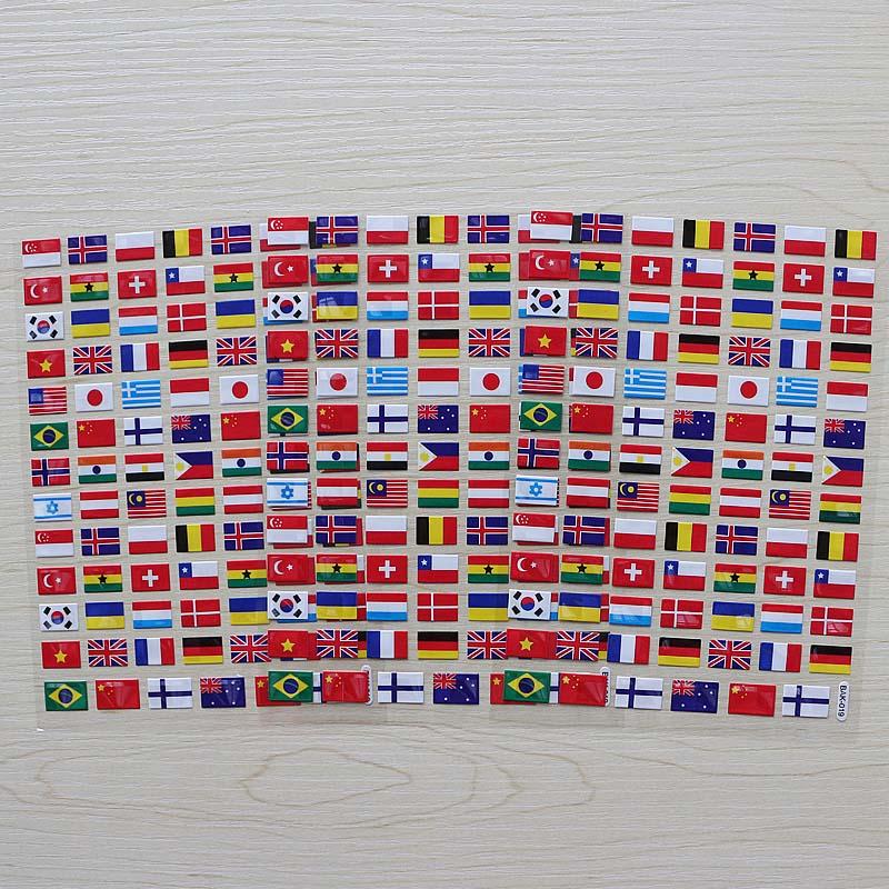 Flat Plastic Sticker National Flags  Smiley Face Children Reward Merit Praise Stickers For School Teacher Party Home