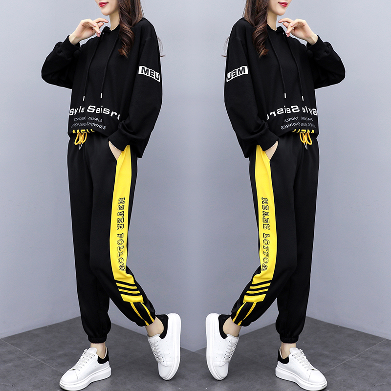 Women's Hoodies Wear 2020 Spring Autumn Sports Suit 2 Piece Set Fashion Top And Pants Tracksuit For Women Suit