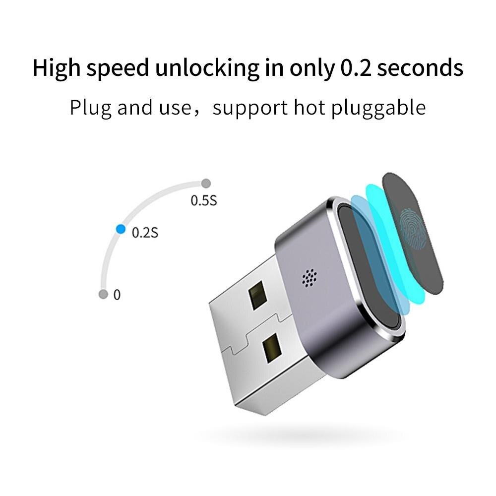 Lecteur d'empreinte digitale Usb ordinateur portable Identification d'empreintes digitales Windows bonjour clé de cryptage de sécurité Mini lecteur USB