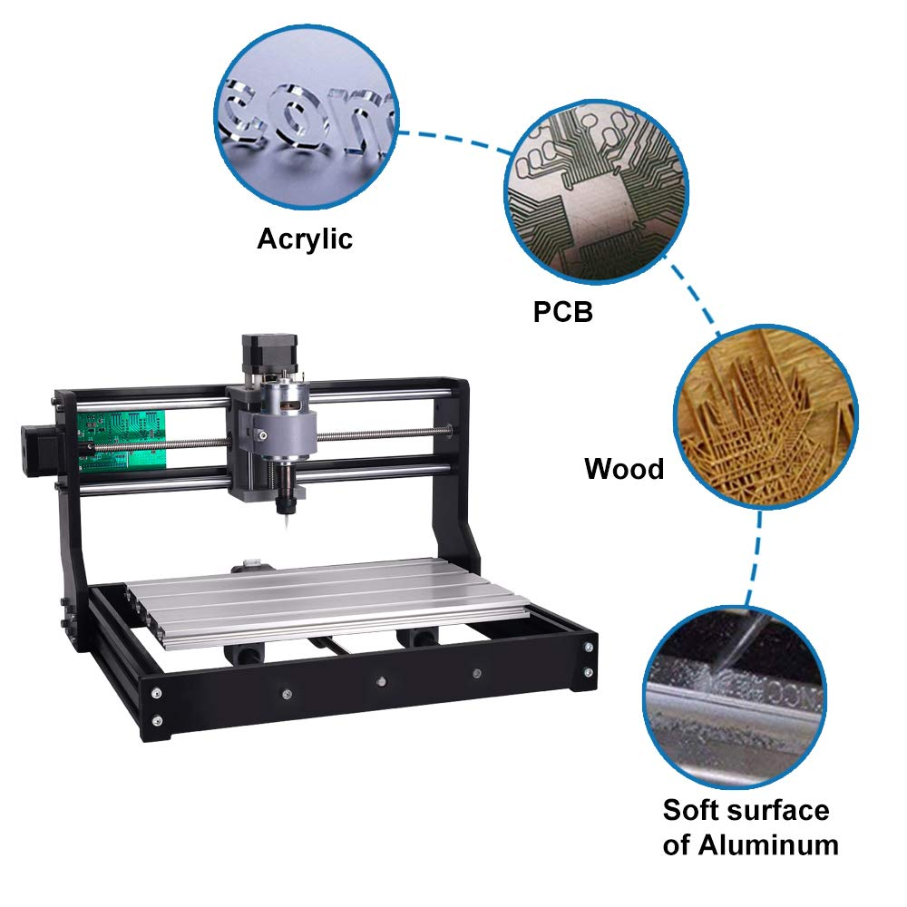 3018 PRO 3-Axis CNC Router GRBL Control Adjustable Speed Spindle Motor Wood Engraving Machine Milling Machine Offline Controller