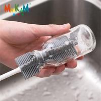 MAIKAMI Silikon Glas Reinigung Pinsel Langen Griff Tasse Pinsel Haushalt Tee Küche Waschen Tasse Schwamm Pinsel-in Reinigungsbürsten aus Heim und Garten bei