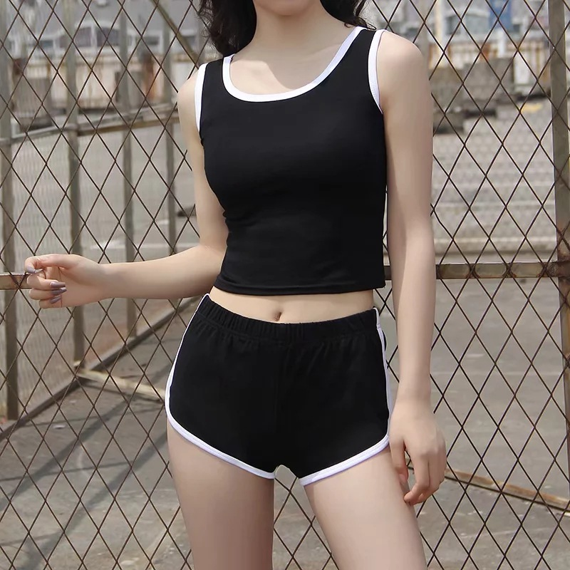 Women Pajamas U-neck Sleepwear Set Sexy Pajama Cotton Nightwear Summer Shorts Vest Strap Homewear 2020