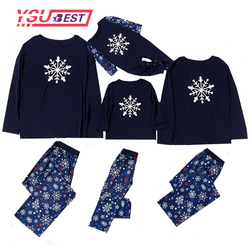 Pijamas Família Correspondência Do Floco De Neve de natal Pijamas Roupas Outfits Olhar Pai Mãe Criança Pijamas Conjuntos de Pijama Natal