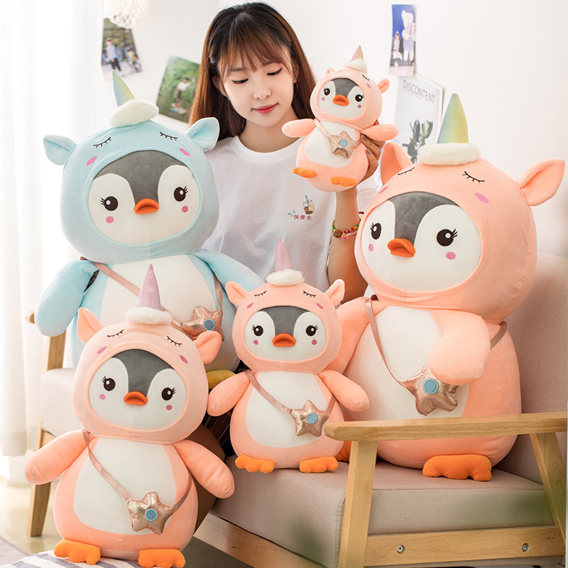 28~70cm Cute Penguin Stuffe Plush Doll Cosplay Unicorn Toy Baby Soft Animal Penguin Pillow Children Girl Birthday Christmas Gift