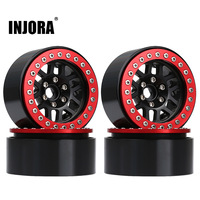 INJORA 4PCS Metal 2.0 Beadlock Rim Wheel Hub Fit 1.9 Tires for 1/10 RC Crawler Axial SCX10 90046 SCX10 III AXI03007 TRAXXAS TRX4 1