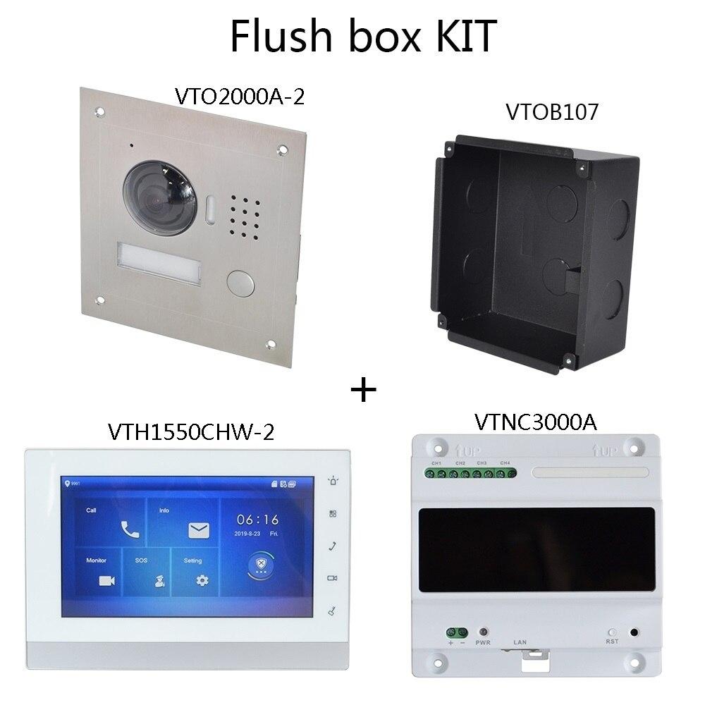 Image 2 - DH logo Multi Language 2 Wire IP Video intercom KIT Include doorbell & monitor & power supply,VTO2000A 2 S1 VTH1550CHW 2 S1Video Intercom   -
