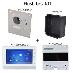 Image 2 - DH logo multi langue 2 fils IP KIT dinterphone vidéo comprend sonnette et moniteur et alimentation, VTO2000A 2 S1 VTH1550CHW 2 S1