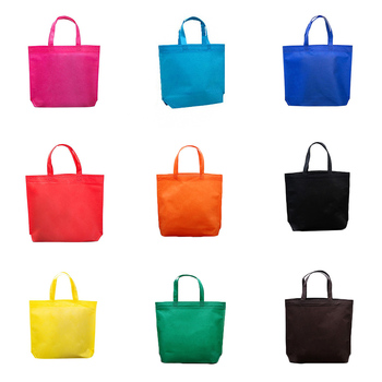 Solid Shopping Bag Foldable Non-woven Reusable Grocery Bags Large Size Folding Portable Pouch Recycl
