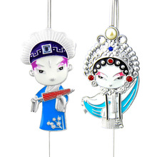 Bookmark Cute Cartoon Peking Opera Metal Bookmarks School Office Supplies Handmade Retro Stationery Multi-Styles