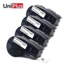 UniPlus 4PCS Ribbon Printer M21-500-595-WT Vinyl Label Maker 12mm for Brady bmp21-plus idpal labpal Typewriter