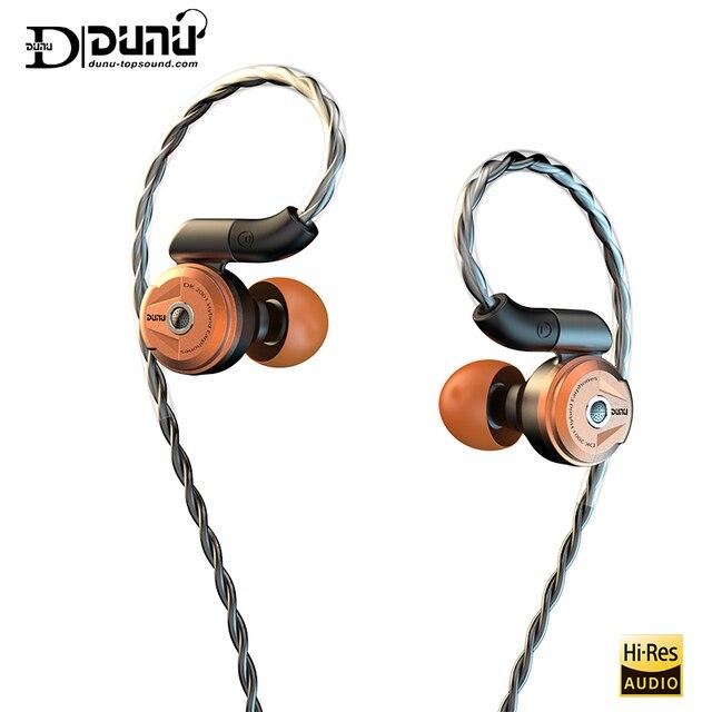 Dunu DK2001高解像度3BA + 1DDハイブリッドドライバin 耳イヤホンiem mmcx自己ロッククイック可変プラグdk 2001 DK 2001