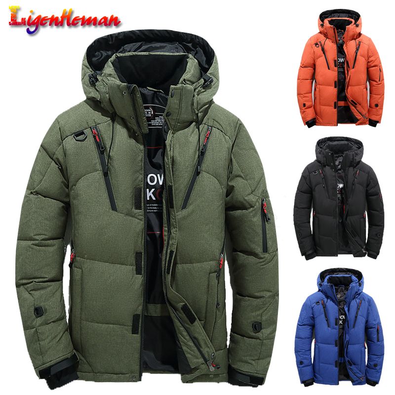 High Quality Winter Jacket Men Casual Hooded Thick Warm Parka Coat Thicken Coat Male Slim Zipper Multi-Pockets Overcoat Jackets