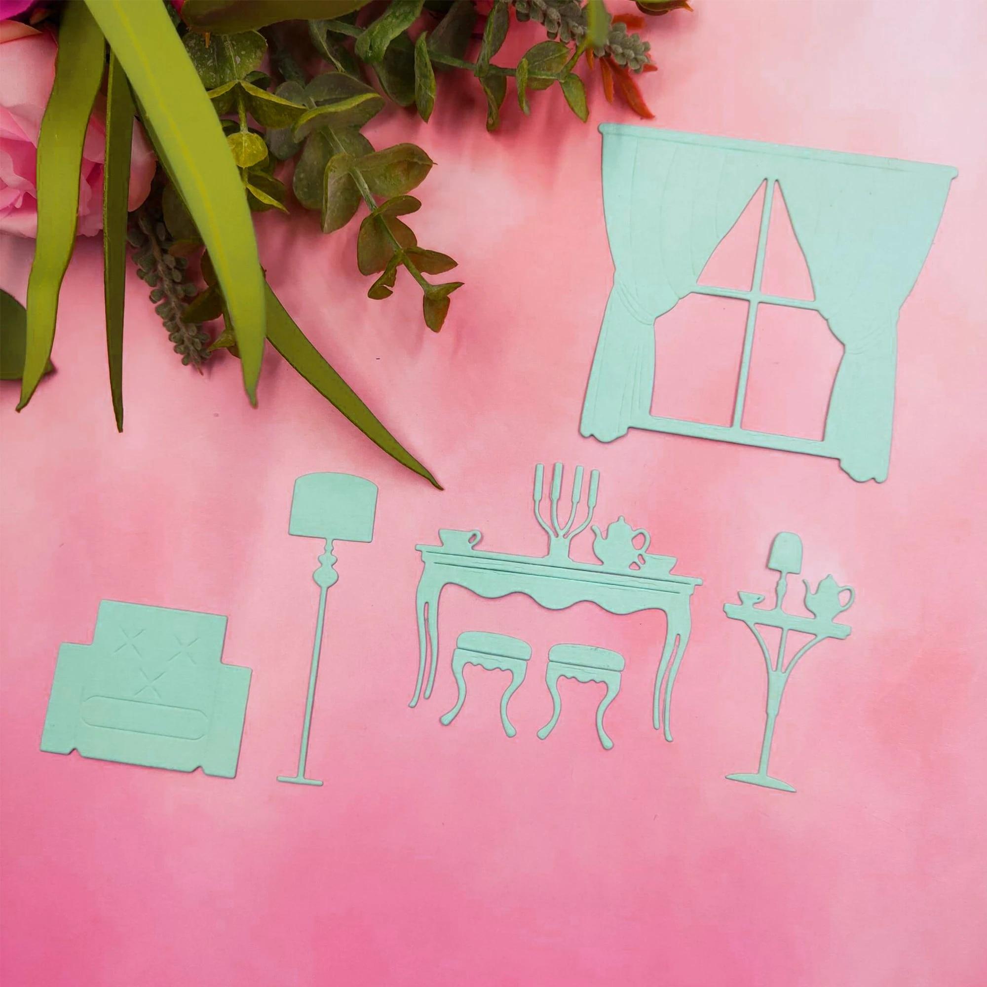 Stencils Scrapbooking Decorative Metal Embossing Paper Card Cutting Dies Curtain