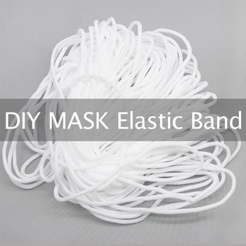 20M 2 5-4mm biały okrągły płaski cienki gumką liny gumką String Ear Cord DIY sztuka szycia ucha wiszące akcesoria linowe tanie i dobre opinie Nylon spandex 2 5mm 3mm 4mm