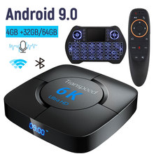 Transpeed 6K Tv Box Android 9.0 4 Gb Ram 32 Gb Google Voice Assistent Tv Box Snelle Wifi Youtube 6K 3D Top Box Media Player