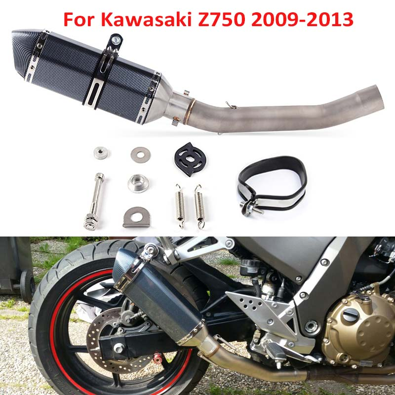 Motorcycle Exhaust Pipe Mid Link Connect Tube Pipe for Kawasaki Z750 2007-2013