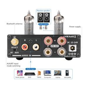 Image 2 - AIYIMA 50W * 2 TPA3116D2 Bluetooth 4.2 Vacuüm 6J4 Buis HiFi Digitale Versterkers Stereo Power Sound Versterker Met Treble bass Tone