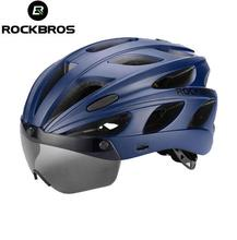ROCKBROS Integrally-molded Bicycle Helmets Goggles Ultralight MTB Mountain Bike Cycling With Sunglasses