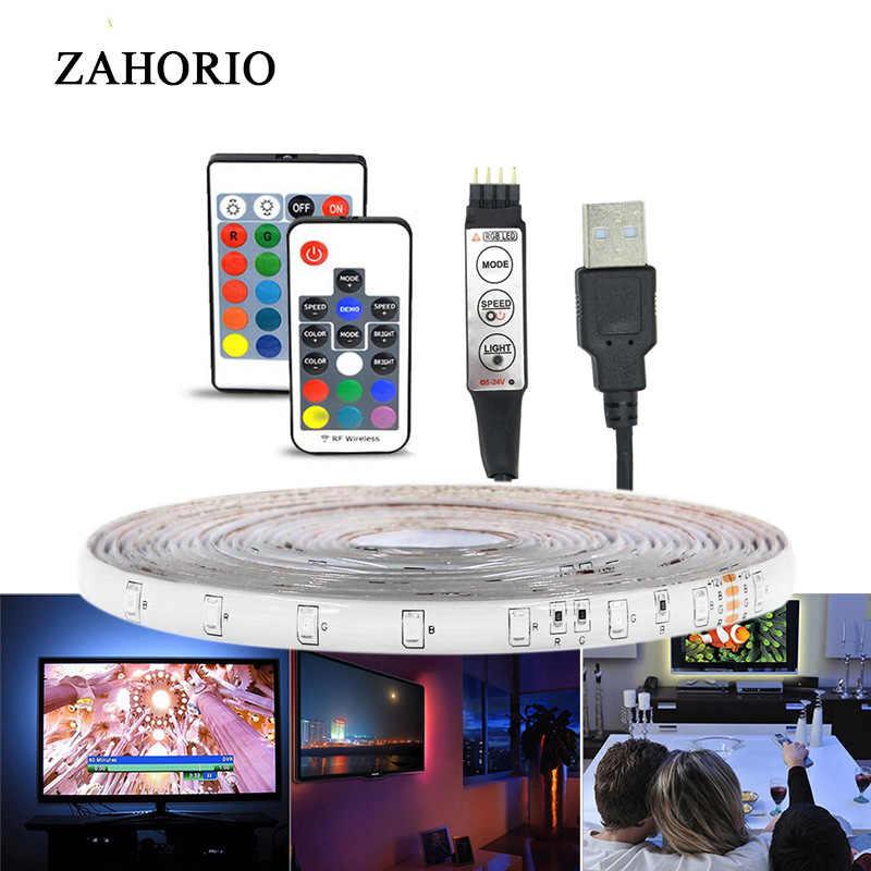 Luce di Striscia Del Led Usb 2835SMD DC5V Flessibile Ha Condotto La Lampada Del Nastro Del Nastro di Rgb 0.5M 1M 2M 3M 4M 5M Tv Desktop Retroilluminazione Dello Schermo Nastro Diodo