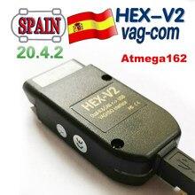 2020 новейший интерфейс HEX V2 VAGCOM 20.4.2 VAG COM 19,6 для VW для AUDI Skoda Seat Vag 20,4 Испания ATMEGA162 + 16V8 + FT232RQ
